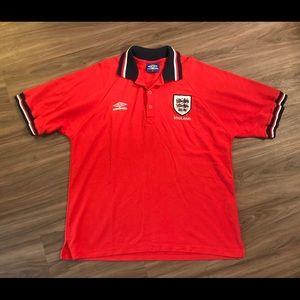 Vintage Umbro England Soccer Polo Size 2XL